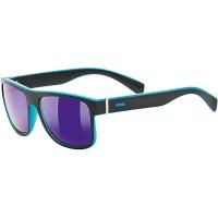 Uvex LGL 21 Okulary przeciwsłoneczne black mat blue mirror blue