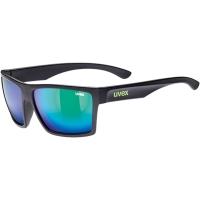 Uvex LGL 29 Okulary przeciwsłoneczne black mat mirror green
