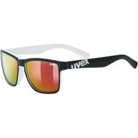 Uvex LGL 39 Okulary przeciwsłoneczne black mat white mirror red