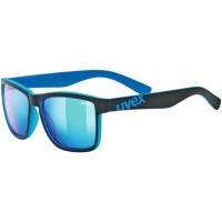 Uvex LGL 39 Okulary przeciwsłoneczne black mat blue mirror blue