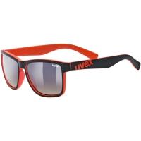 Uvex LGL 39 Okulary przeciwsłoneczne black mat red litemirror brown degrade