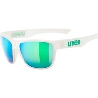 Uvex LGL 41 Okulary przeciwsłoneczne white mirror green