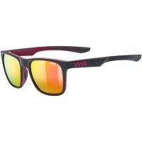 Uvex LGL 42 Okulary przeciwsłoneczne black purple mat mirror pink