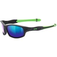 Uvex Sportstyle 507 Okulary przeciwsłoneczne dla dzieci black mat green mirror green