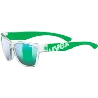 Uvex Sportstyle 508 Okulary przeciwsłoneczne dla dzieci clear green mirror green