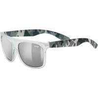 Uvex Sportstyle 511 Okulary przeciwsłoneczne dla dzieci white transparent camo litemirror silver