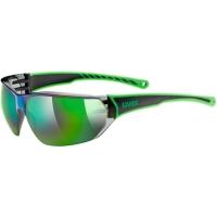 Uvex Sportstyle 204 Okulary sportowe black green mirror green