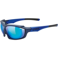 Uvex Sportstyle 710 Okulary sportowe blue mat metallic mirror blue