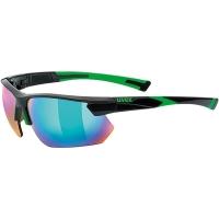 Uvex Sportstyle 221 Okulary sportowe black green mirror green
