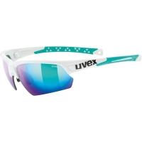 Uvex Sportstyle 224 Okulary sportowe white green mirror green