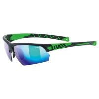 Uvex Sportstyle 224 Okulary sportowe black mat green mirror green