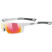 Uvex Sportstyle 225 Okulary sportowe white mat litemirror silver