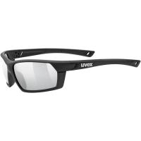 Uvex Sportstyle 225 Okulary sportowe black mat litemirror silver