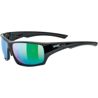 Uvex Sportstyle 222 Pola Okulary sportowe black green polavision mirror green
