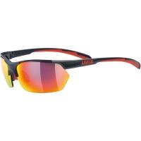 Uvex Sportstyle 114 Okulary sportowe z wymiennymi szkłami grey red mat