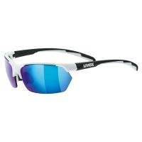 Uvex Sportstyle 114 Okulary sportowe z wymiennymi szkłami white black mat