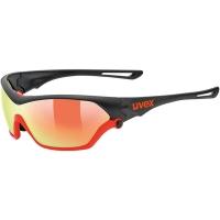 Uvex Sportstyle 705 Okulary sportowe z wymiennymi szkłami black mat orange