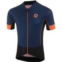 Rogelli Roccia Koszulka rowerowa z krótkim rękawem niebiesko czarno pomarańczowa 2019