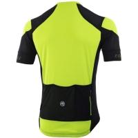 Rogelli Rise Koszulka rowerowa z krótkim rękawem żółto czarna 2019