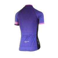 Rogelli Flow Koszulka rowerowa z krótkim rękawem damska fioletowo różowa 2019
