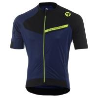 Rogelli Contento Koszulka rowerowa z krótkim rękawem niebiesko żółta