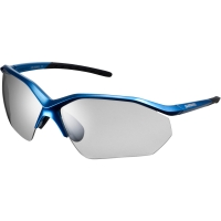 Shimano CE EQNX3 Okulary rowerowe metallic blue photochromic dark gray