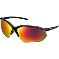 Shimano CE EQNX3 Okulary rowerowe mat black dark grey red multi laye