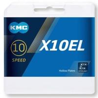 KMC X10EL Ti-N Łańcuch 10 rzędowy 114 ogniw + spinka srebrny