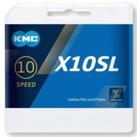 KMC X10 SL Ti-N Gold Łańcuch 10 rzędowy 114 ogniw + spinka złoty