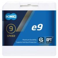 KMC X9E e-Bike Łańcuch 9 rzędowy 136 ogniw + spinka srebrny