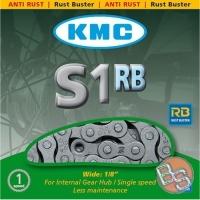 KMC S1RB Łańcuch 1 rzędowy 112 ogniw srebrny