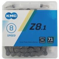 KMC Z81.1 Łańcuch 8 rzędowy 114 ogniw oem + spinka szary