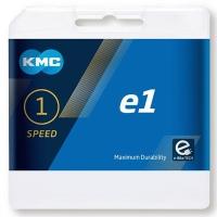 KMC E1 Łańcuch 1 rzędowy 110 ogniw srebrny + spinka