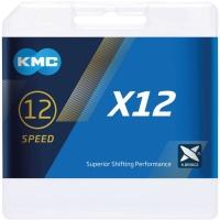 KMC X12 Ti-N EPT Łańcuch 12 rzędowy 126 ogniw + spinka złoty
