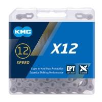 KMC X12 Ti-N EPT Łańcuch 12 rzędowy 126 ogniw + spinka srebrny