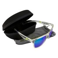 Merida Pilot okulary rowerowe przeźroczysta oprawka zielone soczewki