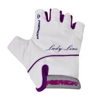 Merida Lady Line Rękawiczki rowerowe damskie bez palców White-Pink