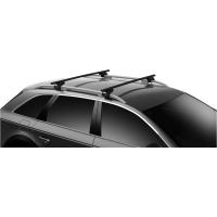Thule SquareBar Evo Bagażnik dachowy Nissan Qashqai 5-dr SUV 2014- na relingi czarny