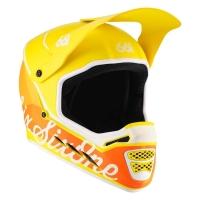 SixSixOne 661 Reset Kask Full Face żółto pomarańczowy