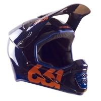 SixSixOne 661 Reset Kask Full Face granatowo pomarańczowy
