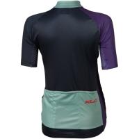 XLC JE W07 Koszulka wyścigowa damska z krótkim rękawem granatowo fioletowa