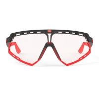 Rudy Project Defender ImpactX Okulary szosowe triathlon MTB czerwono czarne