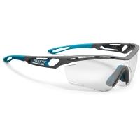Rudy Project Tralyx ImpactX Okulary szosowe triathlon biegowe szaro niebieskie