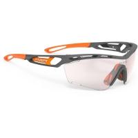 Rudy Project Tralyx Slim ImpactX Okulary szosowe triathlon biegowe szaro pomarańczowe