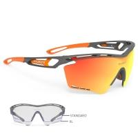 Rudy Project Tralyx XL RP Optics Okulary szosowe triathlon biegowe szaro pomarańczowe