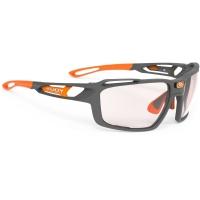 Rudy Project Sintryx ImpactX Okulary rowerowe triathlon MTB szaro pomarańczowe
