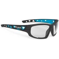 Rudy Project Airgrip ImpactX Okulary rowerowe MTB grafitowo niebieskie