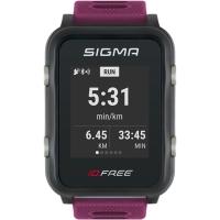 Sigma iD.Free.HR Zegarek z pulsometrem GPS fioletowy 2020