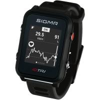 Sigma iD.Tri Zegarek do triathlonu z pulsometrem i GPS czarny 2020