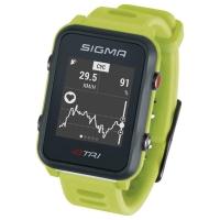 Sigma iD.Tri Zegarek do triathlonu z pulsometrem i GPS neon zielony 2020